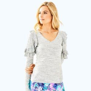 Fresca Sweater: Seaspray grey space dye